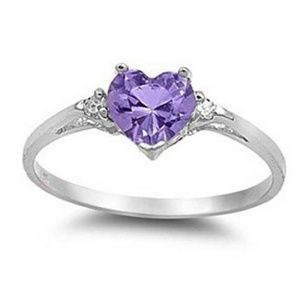 Jewelry - Amethyst heart
